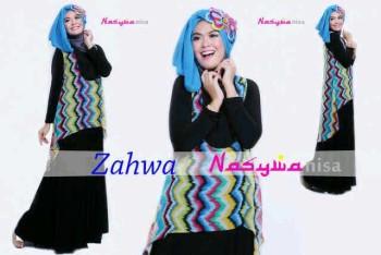 model baju masa kini Pusat-Gamis-terbaru-Zahwa-by-Nasywannisa-Biru-bca