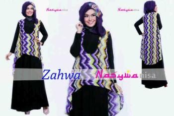 model baju modern Pusat-Gamis-terbaru-Zahwa-by-Nasywannisa-Lavender