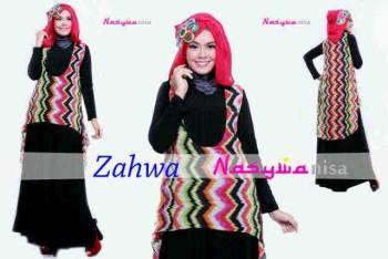 model baju yg lg trend Pusat-Gamis-terbaru-Zahwa-by-Nasywannisa-Oren-Soft-Pink