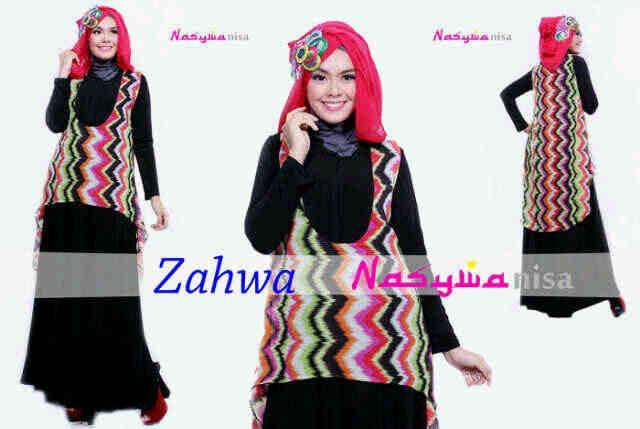 Zahwa By Nasywa Oren S Pink Baju Muslim Gamis Modern
