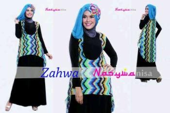 model baju yang lagi trend Pusat-Gamis-terbaru-Zahwa-by-Nasywannisa-Ungu-Tua
