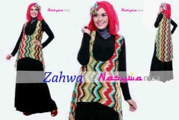 model baju online terbaru  Pusat-Gamis-terbaru-Zahwa-by-Nasywannisa-oren-Merah