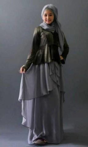 Model Baju Pusat-Gamis-terbaru-Balimo-magnalia hitam