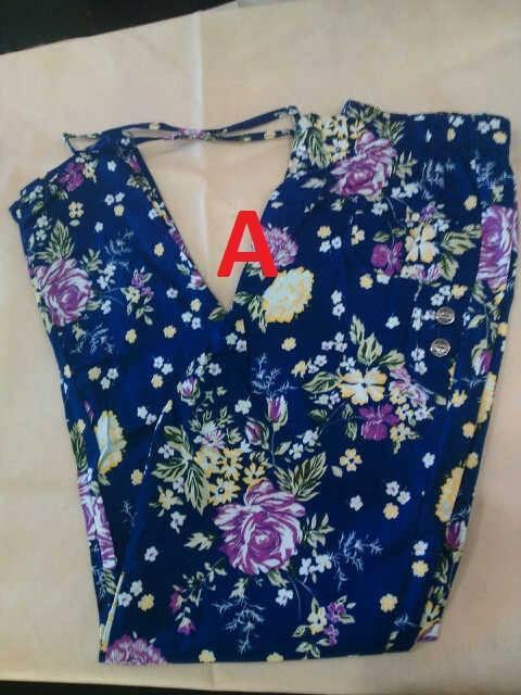 model baju pesta dres Gamis-terbaru-Pants-Flowers-Kode-A