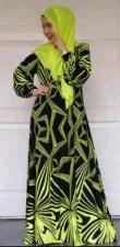 model baju yg terbaru Pusat-Gaamis-Terbaru-Black-Mix-Neon-Colors-Hijau