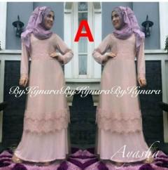 baju pesta muslim Pusat-Gamis-Terbaru-Ayasha-by-Kynara-Kode-A