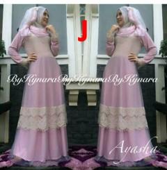 baju pesta wanita muslimah Pusat-Gamis-Terbaru-Ayasha-by-Kynara-Kode-J