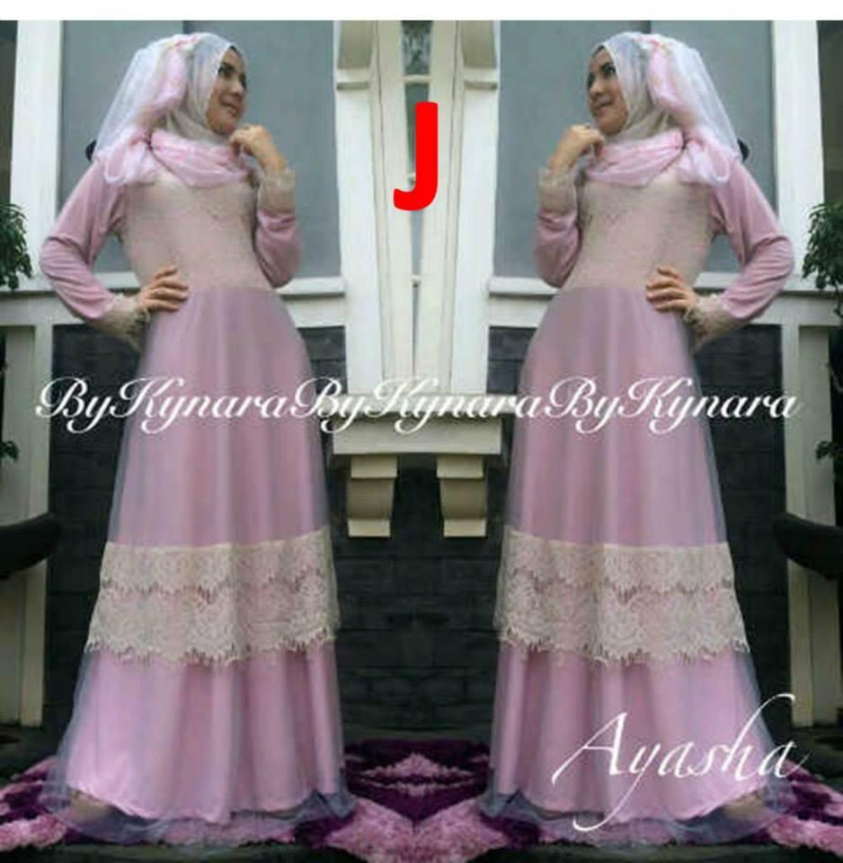 Ayasha By Kynara J Baju Muslim Gamis Modern