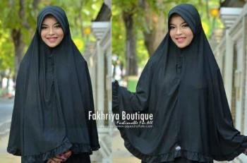 model baju pesta hijab terbaru Pusat-Gamis-Terbaru-Bergo-Fakhriya-Black