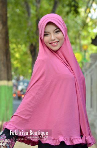 baju pesta facebook Pusat-Gamis-Terbaru-Bergo-Fakhriya-Dusty-Pink