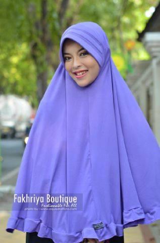 model baju pesta yg cantik Pusat-Gamis-Terbaru-Bergo-Fakhriya-Ungu-Muda