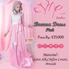 Model baju Hijabes Gamis GrPusat-Gamis-Terbaru-Brenna-Dress-Pink-new