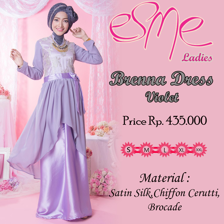 Brenna Dress Violet Baju Muslim Gamis Modern