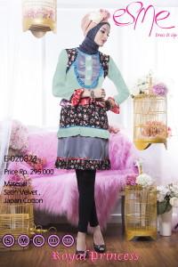 model baju pesta muslim elegan Pusat-Gamis-Terbaru-Esme-Royal-Princess-E-020824