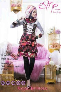 model gaun pesta yang elegan Pusat-Gamis-Terbaru-Esme-Royal-Princess-Kode-E-020803