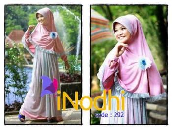 baju muslimah terbaru dan modern Pusat-Gamis-Terbaru-Inodhi-Kode-292
