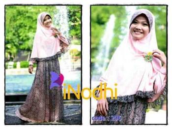 Agen Resmi Baju hijabers Pusat-Gamis-Terbaru-Inodhi-Kode-296