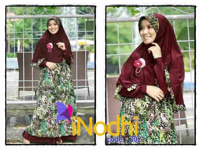 model baju muslim modern 2014 Pusat-Gamis-Terbaru-Inodhi-Kode-302