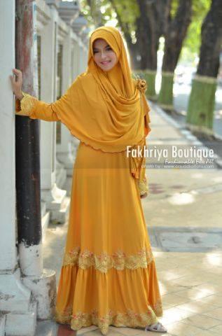 model baju pesta muslim Pusat-Gamis-Terbaru-Malika-Dress-By-Fakhriya-golden