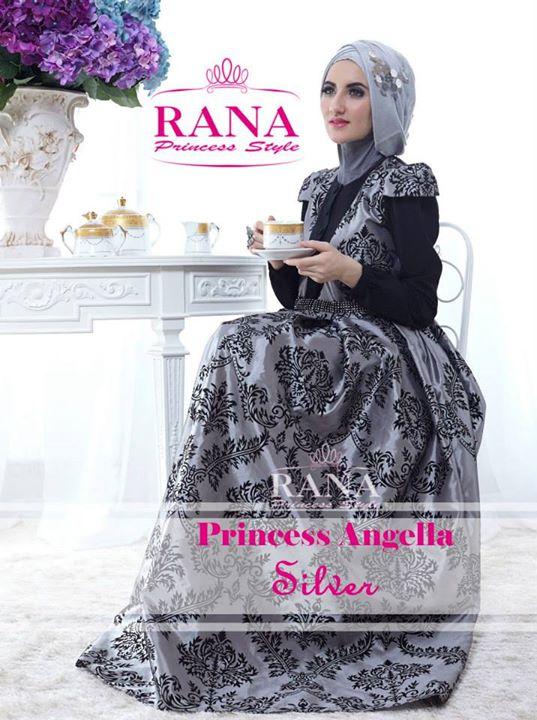 Princess Angella Silver Baju Muslim Gamis Modern