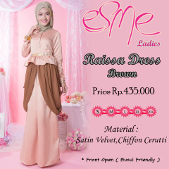 model Baju Grosiran Pusat-Gamis-Terbaru-Raissa-Dress-Brown