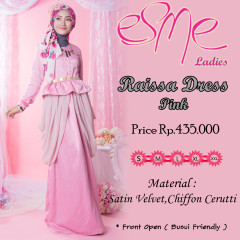 Model baju Hijabers trendy Pusat-Gamis-Terbaru-Raissa-Dress-Pink-new