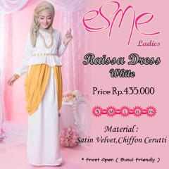 Agen baju Pernikahan Pusat-Gamis-Terbaru-Raissa-Dress-White