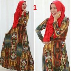 baju pesta hijab Pusat-Gamis-Terbaru-Spandek-Kode-1