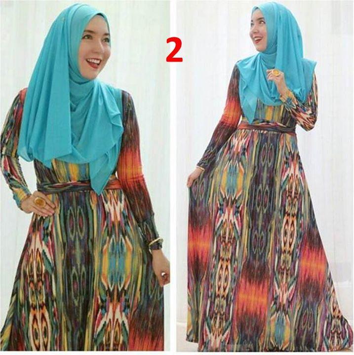 Spandek Kode 2 Baju Muslim Gamis Modern