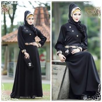 Syalwa By Fitria Style Hitam Baju Muslim Gamis Modern