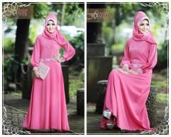 Jasmine Biru Elektrik Baju Muslim Gamis Modern