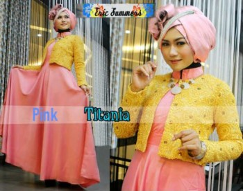 model baju muslimah modis Pusat-Gamis-Terbaru-Titania-by-Ericsummer-Pink