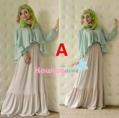 baju pesta islami Pusat-Gamis-terbaru-Aubre-by-Hawwa-Aiwa-kode-A