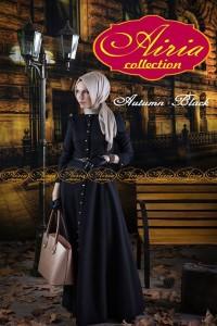 model baju ibu menyusui Pusat-Gamis-terbaru-Autumn-Dress-Dan-Rain-Koko-Black