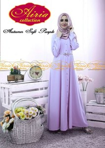 model baju online Pusat-Gamis-terbaru-Autumn-Dress-Dan-Rain-Koko-Soft-Purple