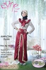 model baju pesta Gamis-Terbaru-Ameera-Dress-Maroon
