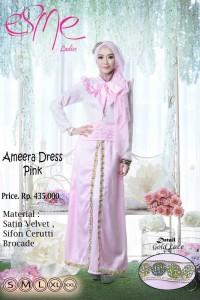 model baju pesta online Gamis-Terbaru-Ameera-Dress-Pink