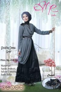 model baju pesta online Gamis-Terbaru-Shofiya-Dress-Grey