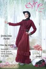 model baju pesta Gamis-Terbaru-Shofiya-Dress-Maroon