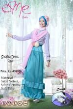 model baju pesta dres Gamis-Terbaru-Shofiya-Dress-Pink