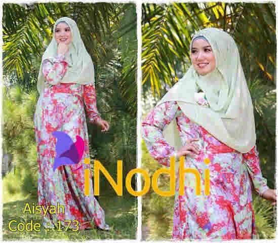 baju pesta dress Pusat-Gamis-Terbaru-Aisyah-By-Inodhi-Kode-173
