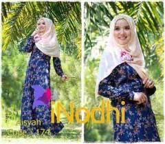 baju pesta anak perempuan Pusat-Gamis-Terbaru-Aisyah-By-Inodhi-Kode-174