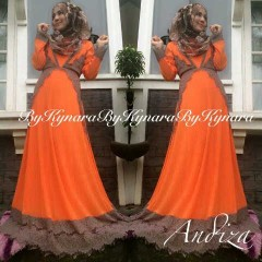 model baju pesta jilbab Pusat-Gamis-Terbaru-Andiza-By-Kynara-Orange