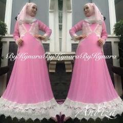 model baju pesta lengan panjang Pusat-Gamis-Terbaru-Andiza-By-Kynara-Pink