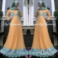model baju pesta sekarang Pusat-Gamis-Terbaru-Andiza-By-Kynara-Soft-Orange