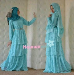 model baju pesta muslim elegan Pusat-Gamis-Terbaru-Arafah-Set-By-Hawwa-Aiwa-Baby-Blue