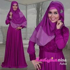 baju pesta elegance Pusat-Gamis-Terbaru-Azka-By-Nasywannisa-Magenta