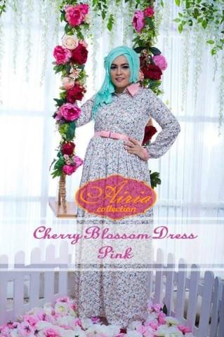 baju pesta elegance Pusat-Gamis-Terbaru-Blossom-Dress-by-Airia-Pink