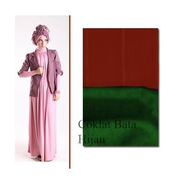 baju pesta modern Pusat-Gamis-Terbaru-ELECTRA-97-by-for-TWO-Coklat-Bata-Hijau