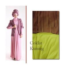 baju pesta muslim 2014 Pusat-Gamis-Terbaru-ELECTRA-97-by-for-TWO-Coklat-Kuning